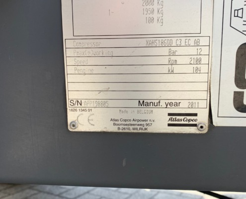 Mobiele-compressor-occasion-Atlas-Copco-XAHS-186-Dd-C3-typeplaat
