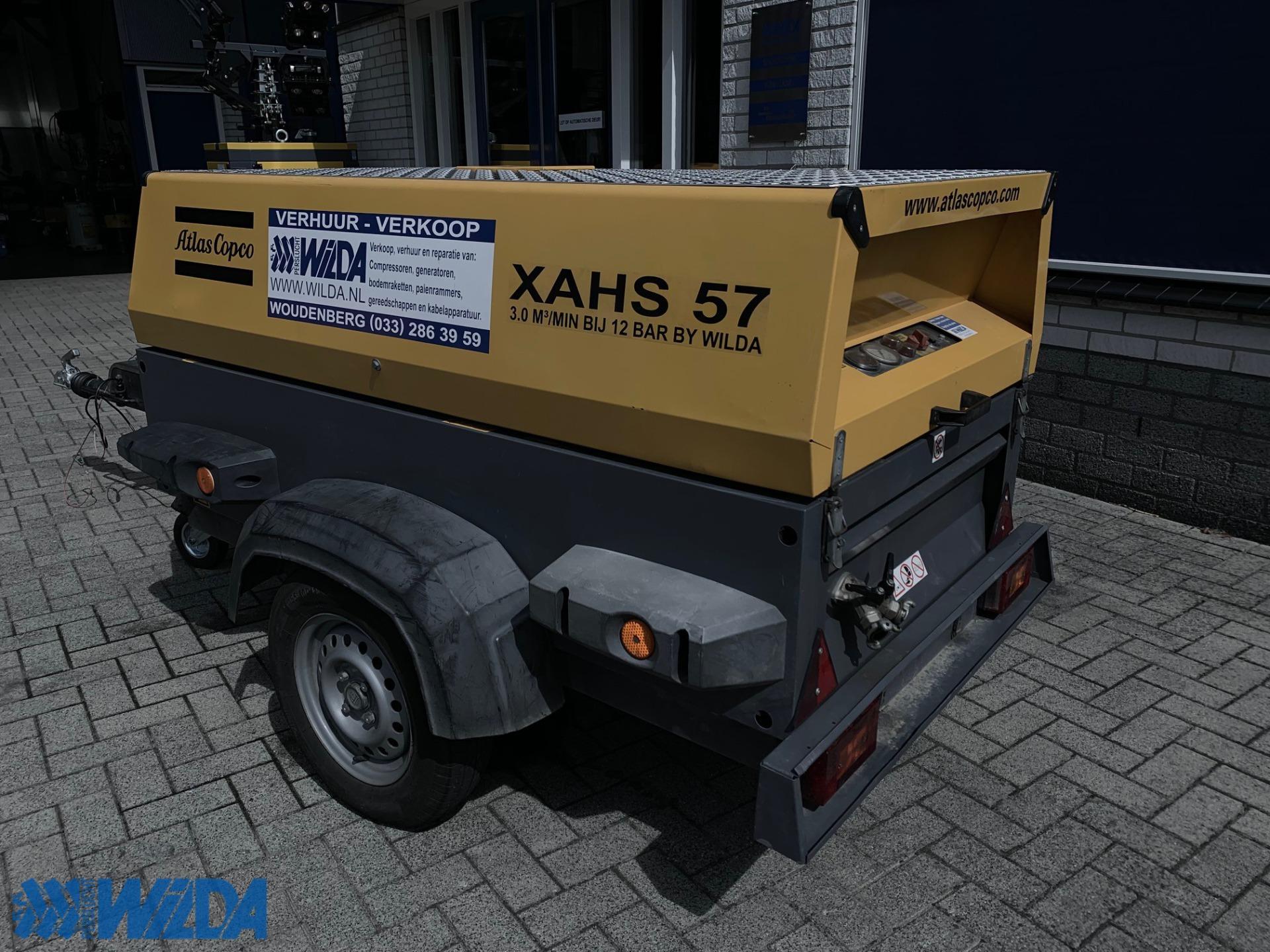 Gebruikte-compressor-Atlas-Copco-XAHS-57