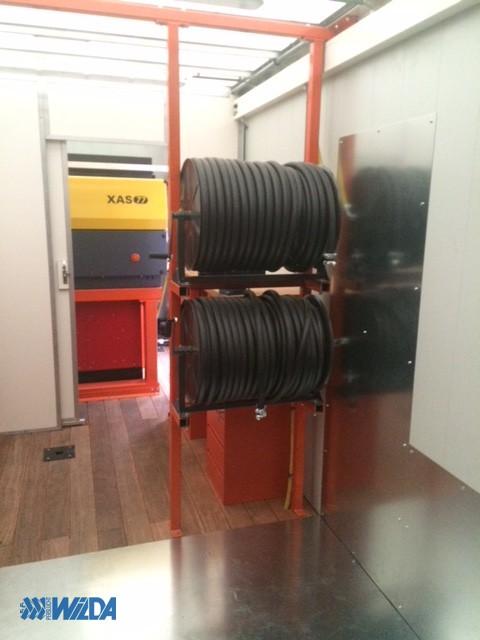 Zaagwagen-Hoeflake-kabelrollen