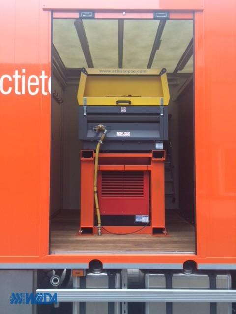 Zaagwagen-Hoeflake-Frame-compressor-generator
